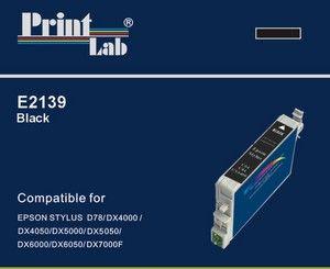 PrintLab Tintenpatrone Black 11ml kompatibel mit Epson T0711 Stylus D92 DX4050 SX205 SX405