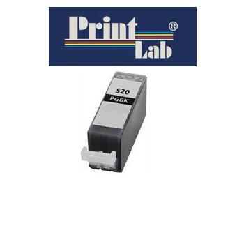 PrintLab Tintenpatrone Black mit Chip  21ml kompatibel mit Canon PGI-520BK Pixma IP3600 MP540 MP640