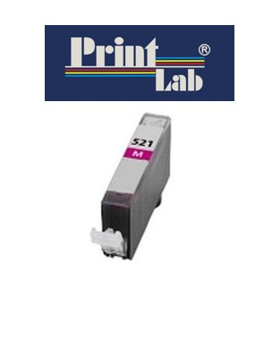 PrintLab Tintenpatrone Magenta 10,5ml kompatibel mit Canon CLI-521M Pixma IP3600 MP540 MP640