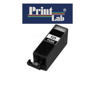 PrintLab Tintenpatrone Black mit Chip  21ml kompatibel mit Canon PGI-525BK Pixma MG5350 MG6150 MG8250