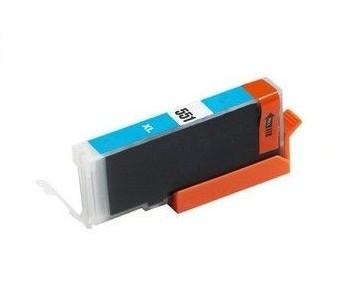 PrintLab Tintenpatrone Cyan mit Chip 11ml kompatibel mit Canon CLI-551xlCY Pixma IP7250 MG5450 MX725 MX925