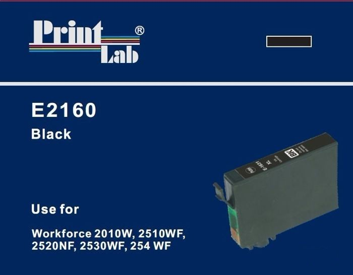 PrintLab Tintenpatrone Black 18ml kompatibel mit Epson T1631 Workforce WF 2010W 2530WF 2540WF