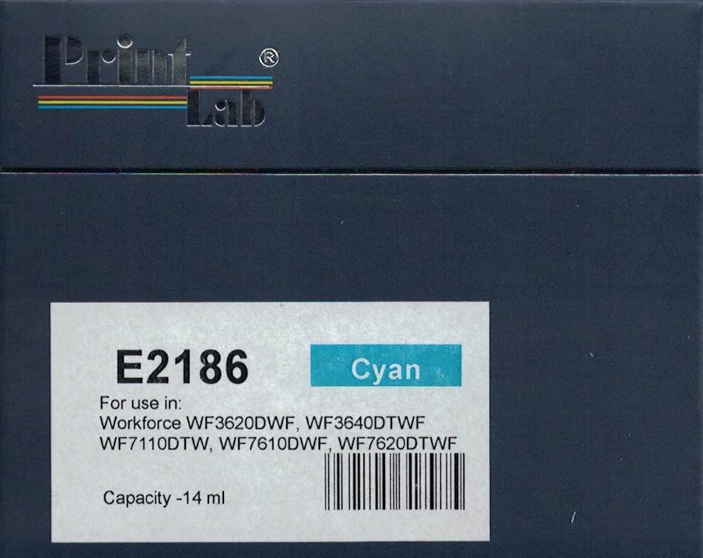 PrintLab Tintenpatrone Cyan 14ml kompatibel mit Epson T2702 Workforce 3620DWF 3640DTWF 7110DTW 7610DWF